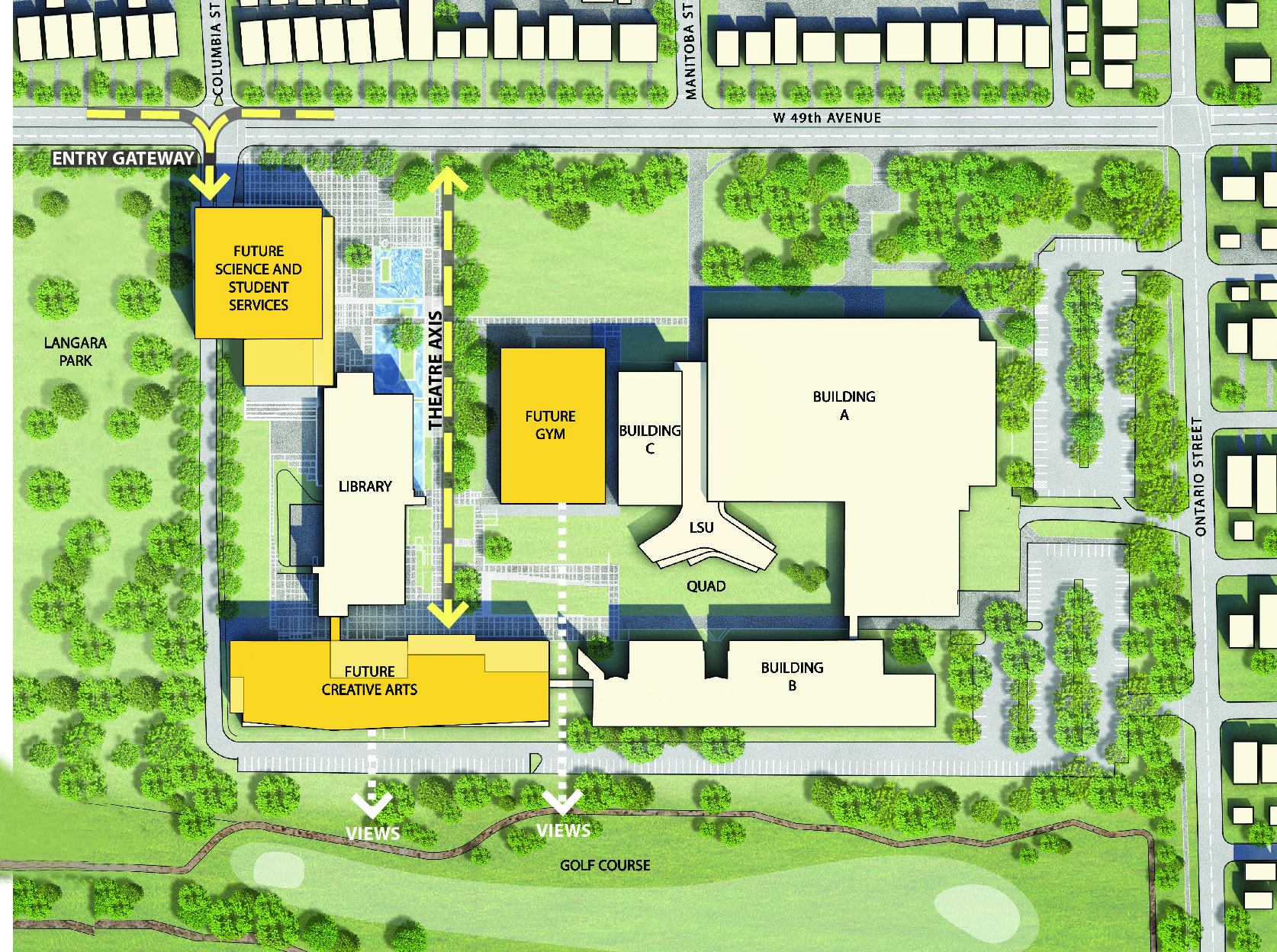 building site plan langara campus amp facilities facilities master plan 10844