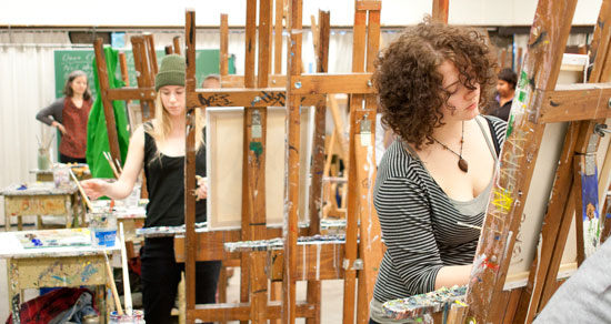 Langara College Fine Arts students